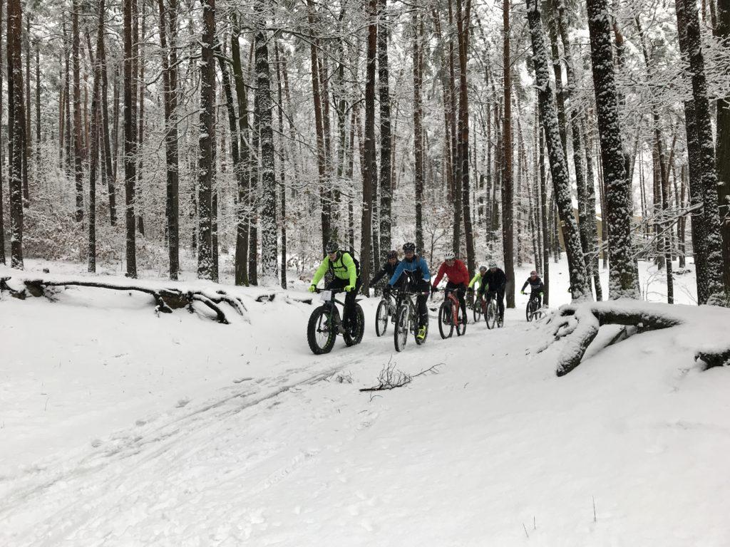 v zimě na kole